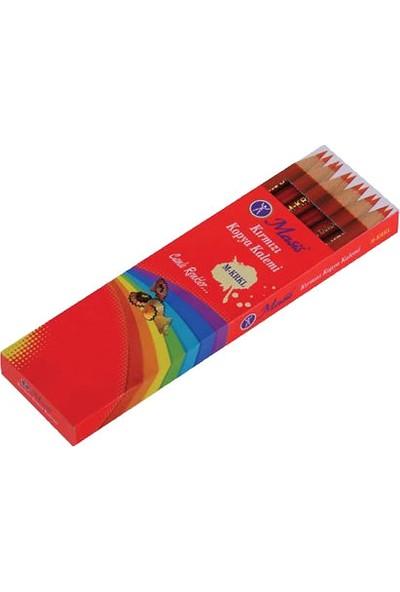 Masıs 12 Li Kırmızı Kurşun Kalem