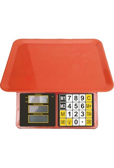 Plt Power Renkli Elektronik Dijital Bakkal Manav Market Pazarcı Terazisi 40 kg