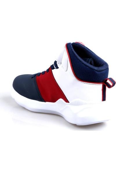 Cool 19-K31 Erkek Çocuk Lacivert Kırmızı Basketbol Ayakkabı