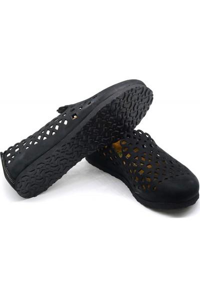 Forelli 23230 Kadın Siyaht Nubuk Mantar Ayakkabı