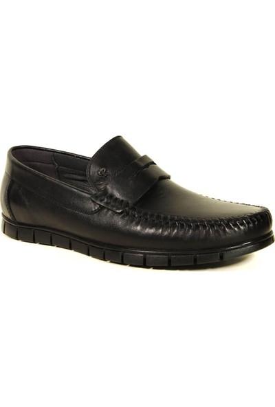 Forelli 44301 Erkek Siyah Deri Comfort Ayakkabı