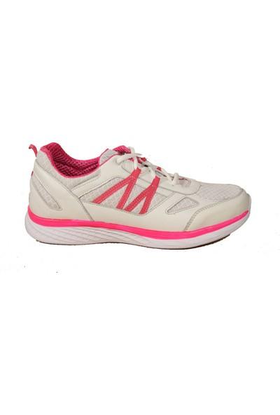 Forelli 54803 Kadın Açık Gri Fuşya Spor Ayakkabı