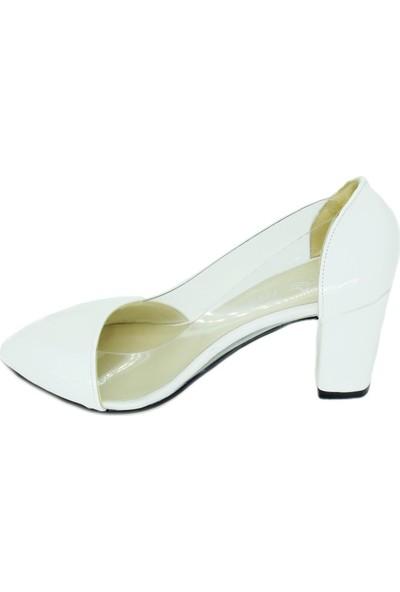 Trendy 100100126 Kalın Topuk Şeffaf Kadın Günlük Ayakkabı