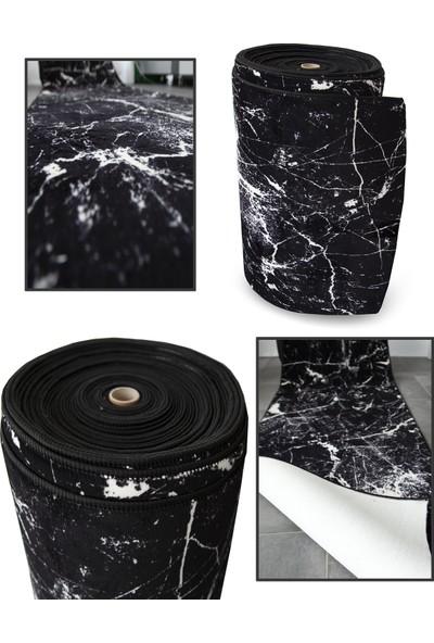 Aksu Kesme Yolluk Kaymaz Taban Yumuşak Yüzey-Amor Siyah 50 x 100 cm