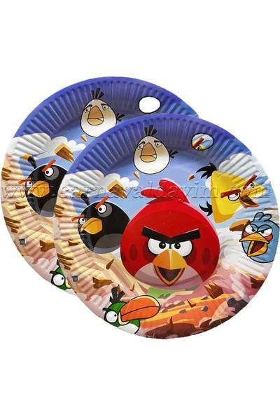 Crv Angry Birds Baskılı 23,5cm Karton Tabak 10 Adet
