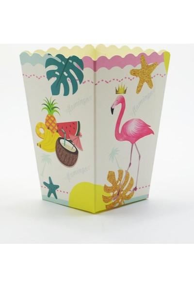 Crv Flamingo Baskılı Karton Mısır Kutusu 10 Adet