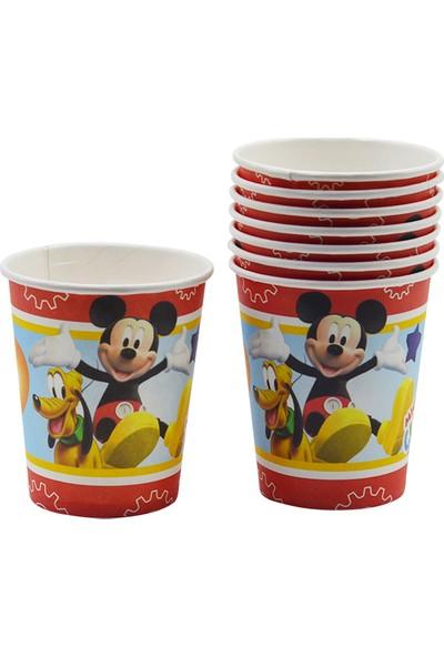 Crv Mickey Mouse Baskılı Karton Bardak 8 Adet