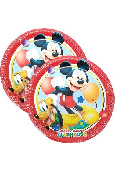 Crv Mickey Mouse Baskılı Karton Tabak 8 Adet