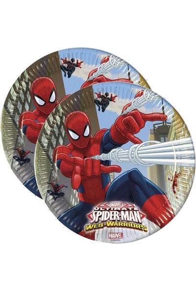 Crv Spiderman Baskılı Karton Tabak 8 Adet