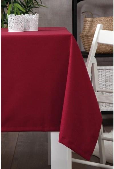 Derinteks Dertsiz Düz Mutfak Masa Örtüsü Bordo 110 x 150
