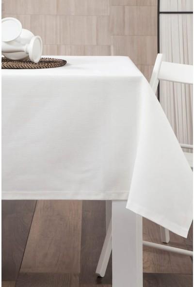 Derinteks Dertsiz Düz Mutfak Masa Örtüsü Beyaz 140 x 220