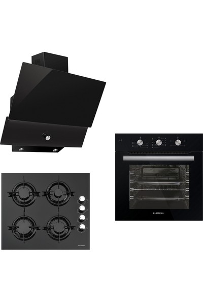 Luxell Ankastre Set (Fırın - LX-A6SF mt - Ocak - LX-40TAHDF - Davlumbaz - LX-830)