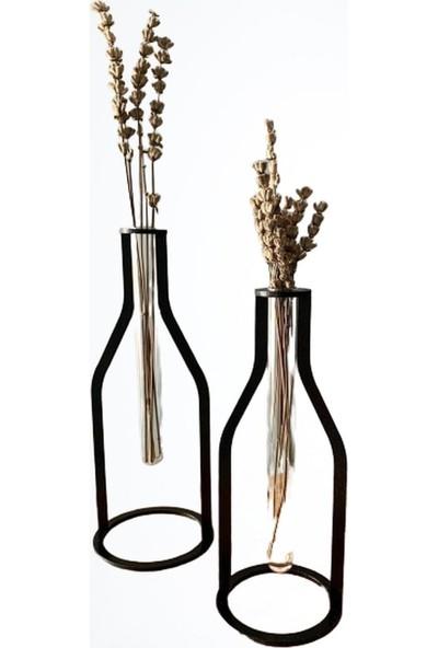 Thorqtech 3 Lü Set Dekoratif Metal Vintage Vazo