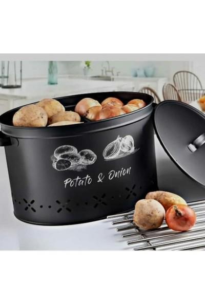 Meleni Home Metal Bölmeli Patates Soğan Saklama Kabı
