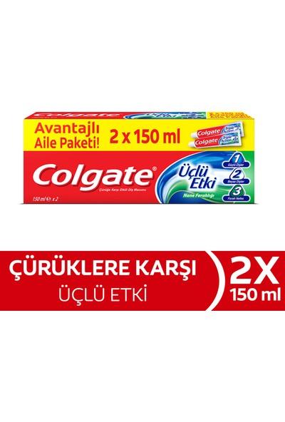 Colgate Diş Macunu Üçlü Etki 2x150 ml