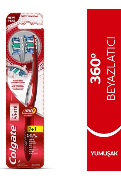 Colgate 360 Optik Beyaz Gelişmiş Diş Fırçası Yumuşak 1+1