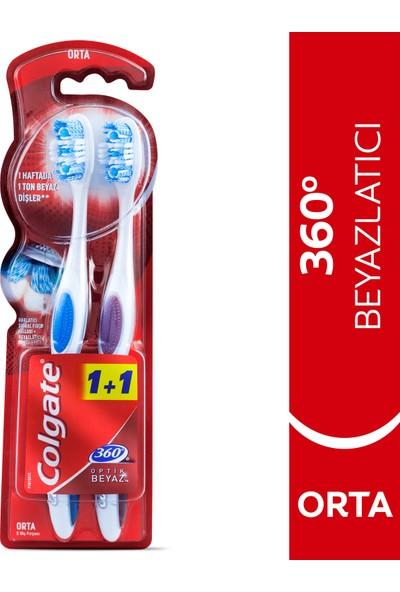 Colgate 360 Optik Beyaz Diş Fırçası Orta 1+1