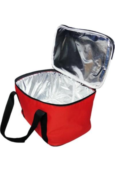 Ksburda Termal Soğuk Sıcak Tutucu Kamp Piknik Buzluk Çanta 27 lt Kırmızı