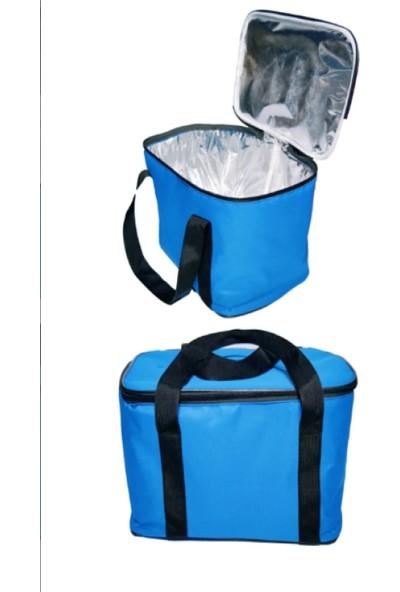 Ksburda Termal Soğuk Sıcak Tutucu Kamp Piknik Buzluk Çanta 27 lt Mavi