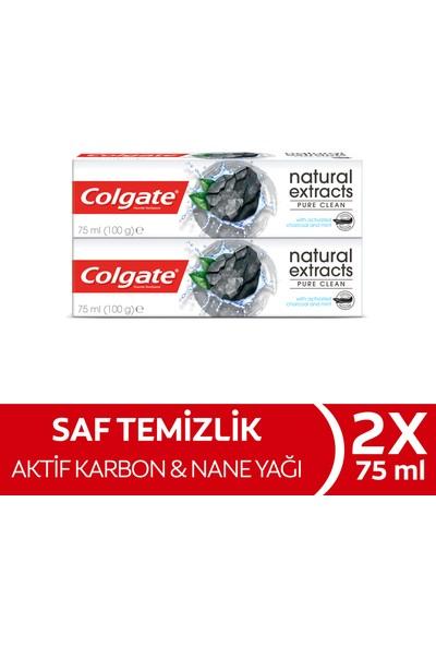Colgate Natural Extracts Aktif Kömür Karbon Temizleyici Diş Macunu 75 ml x 2 Adet