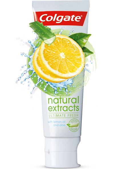 Colgate Diş Macunu Natural Extracts Limon Ferah Nefes Diş Macunu 75 ml x 4 Adet