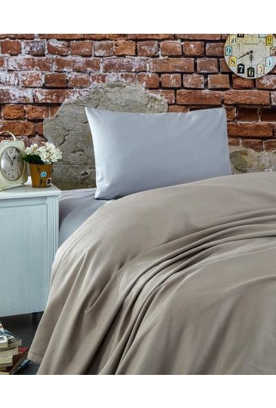 Komfort Home Tek Kişilik Ranforce %100 Pamuk Pike / S. Kahve