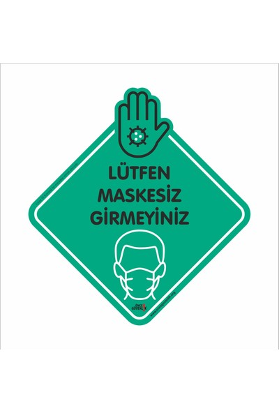 Caddeshop Maskesisz Girilmez Sticker