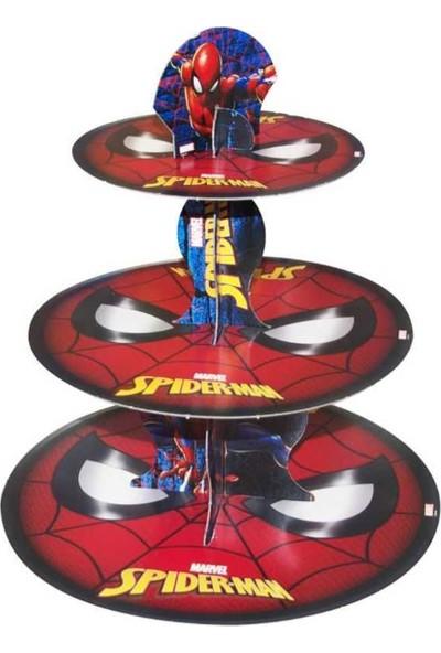 Crv Spiderman Baskılı Cupcake Kek Standı 3 Katlı
