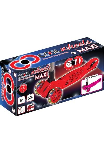 Cool Wheels LED Işıklı Katlamalı 3 Tekerlekli Twist Çocuk Scooter Pembe - Maxi Boy