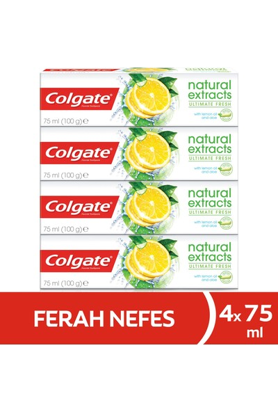 Colgate Natural Extracts Limon Diş Macunu 75 ml x 4 Adet