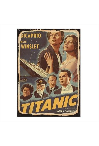 Tablomega Titanic Film Afişi Tasarım Ahşap Tablo