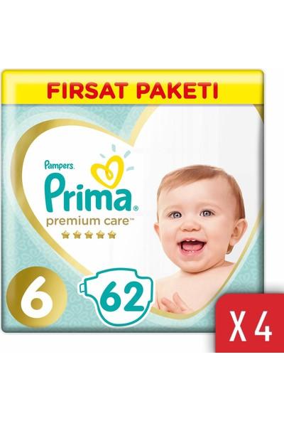 Prima Premium Care Bebek Bezi 6 Beden 13-18 kg 248'li Ekstra Large Fırsat Paketi