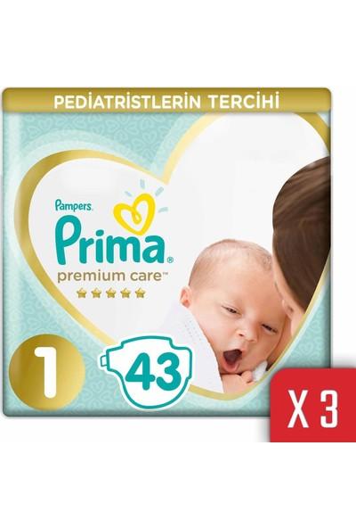 Prima Premium Care Bebek Bezi 1 Beden 2-5 kg 129'lu Yenidogan Ekonomi Paketi