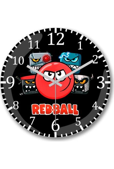 Baskı Dükkanı Red Ball 4 The Crew Tazza Duvar Saati Bombeli Gerçek Cam