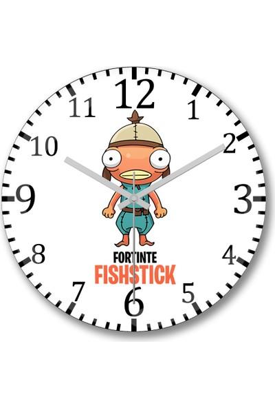 Baskı Dükkanı Fortnite Fshstck Fortnite Duvar Saati Bombeli Gerçek Cam