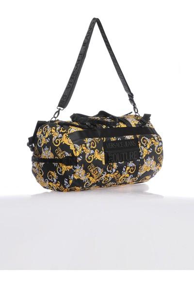 Versace J. Couture E1 YZAB61 Renkli Siyah Unisex El Valizi