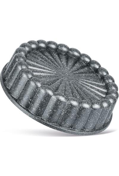 Thermoad Alüminyum Döküm Granit Turta Tart Kalıbı / Gri