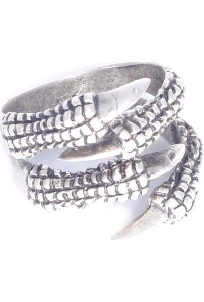 Labalaba Erkek Antik Gümüş 2'li Kartal Pençesi Yüzük