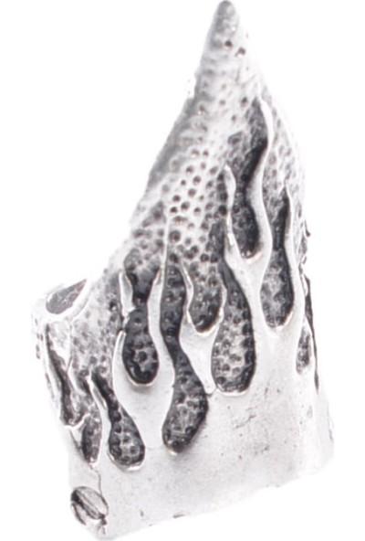 Labalaba Kadın Antik Gümüş Kaplama Tırnak Yüzük
