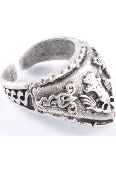 Labalaba Erkek Antik Gümüş Yüzük