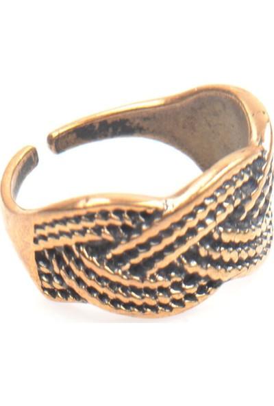 Labalaba Kadın Bronze Kaplama Örgü Yüzük