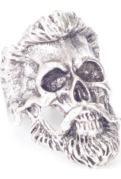 Labalaba Erkek Antik Gümüş Kaplama Gotik Yüzük