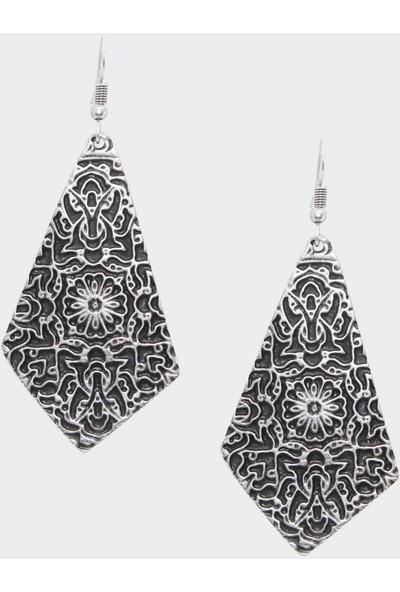 Labalaba Kadın Antik Gümüş Osmanlı Motifli Küpe