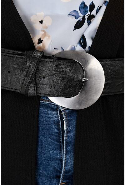 Jument Kalın Gümüş Tokalı Suni Deri Kemer