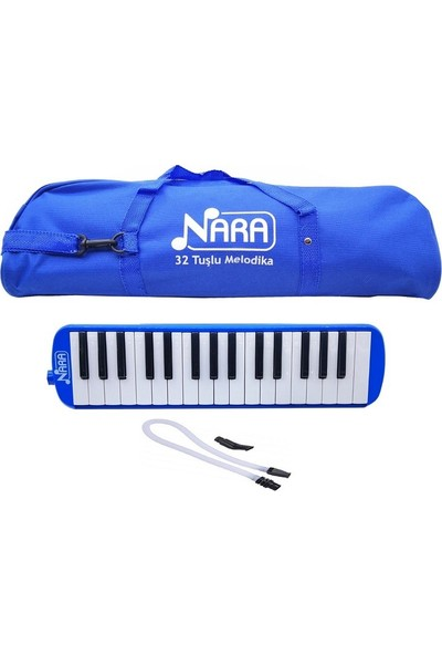 Nara 32 Tuşlu Çantalı Melodika Mavi
