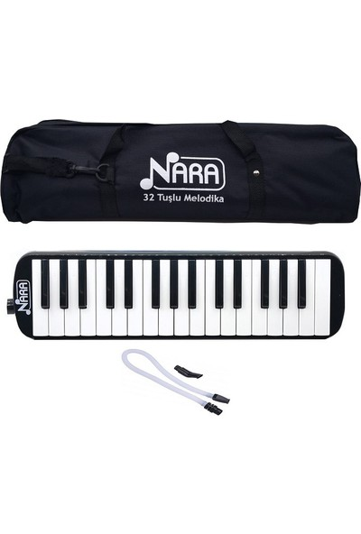 Nara 32 Tuşlu Çantalı Melodika Siyah