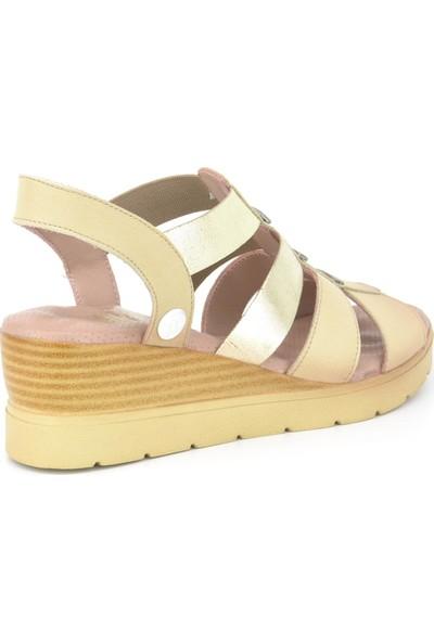 Mammamia D20YS-1480 Kadın Deri Sandalet