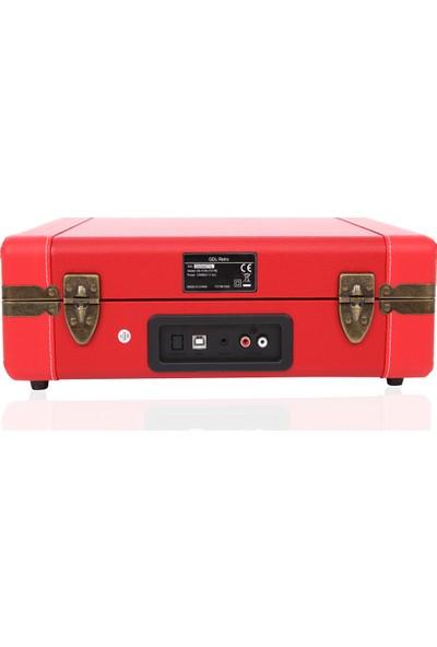 Gdl Retro Çanta Pikap T317B Kırmızı (Bluetooth-Şarjlı)