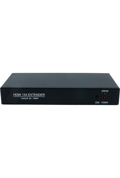 PwayTech HDMI 1x4 Kanal Uzatıcı ve Splitter Extender 50 mt