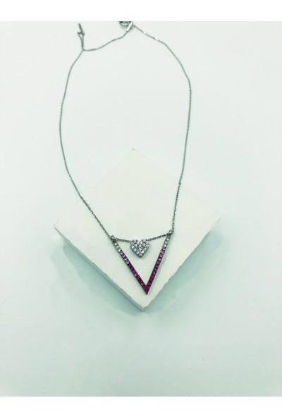 Designbykairos Kalp 925 Ayar Gümüş Kolye